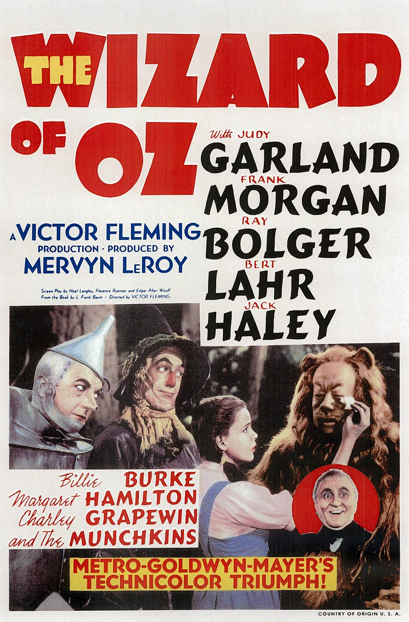 wizard of oz 1939 poster