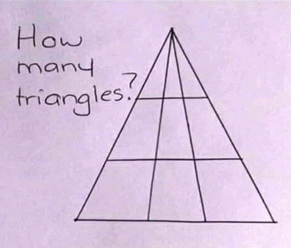 how many triangles in this photo