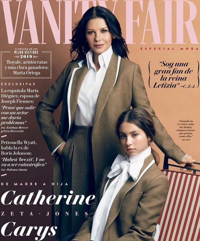 catherine zeta jones carys douglas vanity fair cover spain