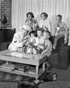 Roy Rogers and Dale Evans with their children