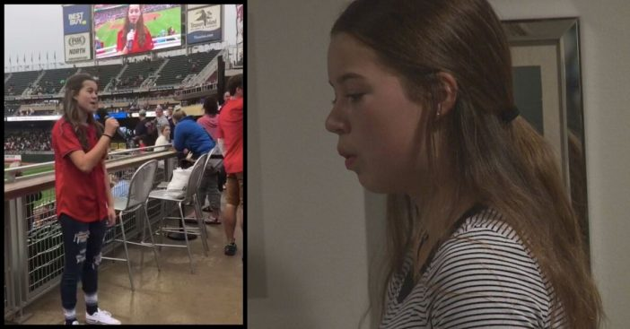 13-Year-Old Sings _God Bless America_ Beautifully At A Twins Game