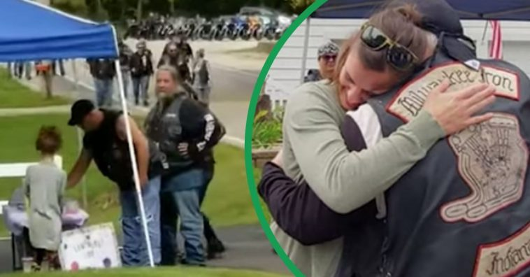 30 Bikers Line Up At Girl's Lemonade Stand After Mom Helps Injured Riders In Crash