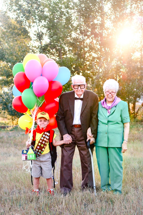 5-Year-Old Boy Has Adorable 'Up' Inspired Photoshoot With 90-Year-Old Great Grandparents
