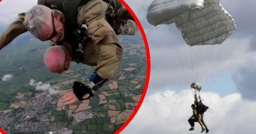 98-Year-Old D-Day Vet Plans To Parachute Until He's 100 Years Old