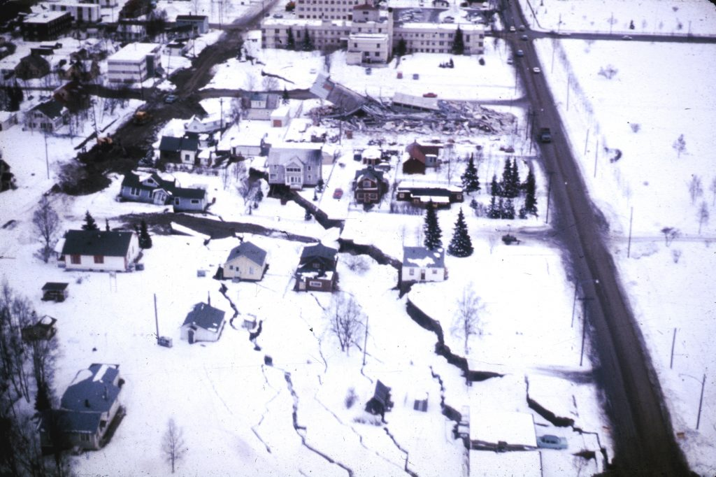 Damage from the Alaska Quake of 1964