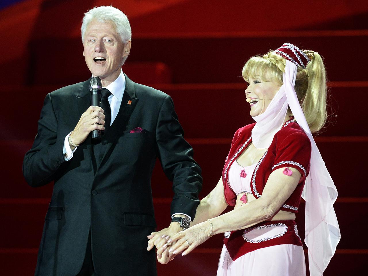 Bill Clinton and Barbara Eden I Dream of Jeannie