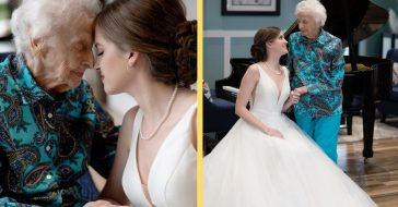 Bride-To-Be Flies To Grandmother In Hospice For Special Photoshoot, Family Has No Idea Until Wedding Day