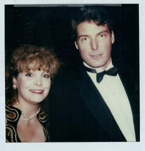 Christopher Reeve and Terrie Frankel at the Cable ACE Awards.