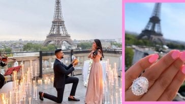 Dhar and Laura ended an elaborate proposal with an equally grand ring