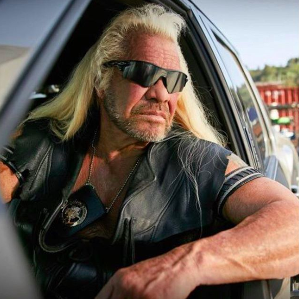 Dog the Bounty Hunter wearing his iconic sunglasses.