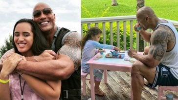 Dwayne Johnson and daughter Jasmine