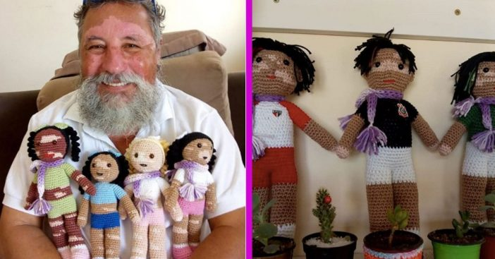 Grandfather With Vitiligo Knits Dolls For Children With The Same Disease