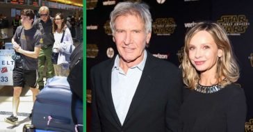 Harrison Ford And Calista Flockhart Help Son Move Into College