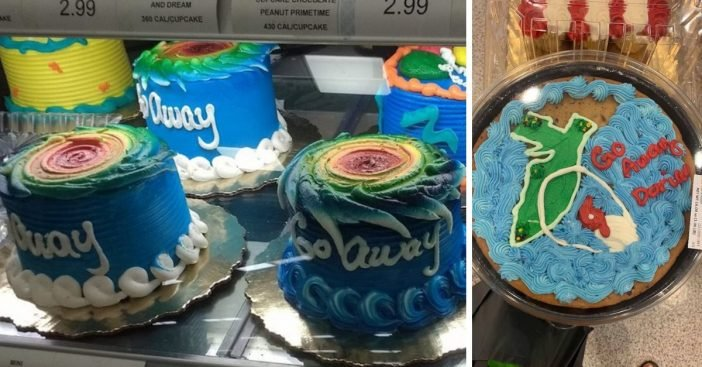 Hurricane Dorian themed cakes are popping up at Publix in Florida