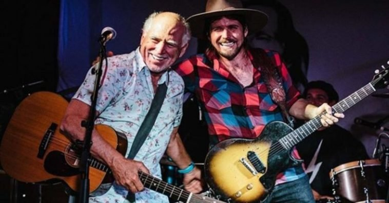Jimmy Buffett Joins Willie Nelson's Son, Lukas, Onstage In The Hamptons