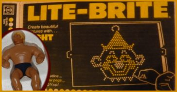 Vintage toys like the lite-brite and stretch armstrong.