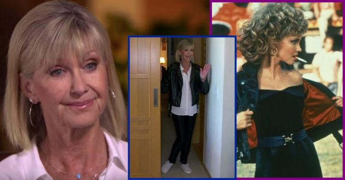 Olivia Newton-John Puts On Iconic 'Grease' Costume And Talks About Cancer Diagnosis