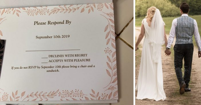 One couple gave an extreme rsvp penalty on their wedding invitations