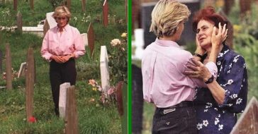 Princess Diana Comforts A Woman Crying At Her Dead Son's Grave Weeks Before Her Own Tragic Death