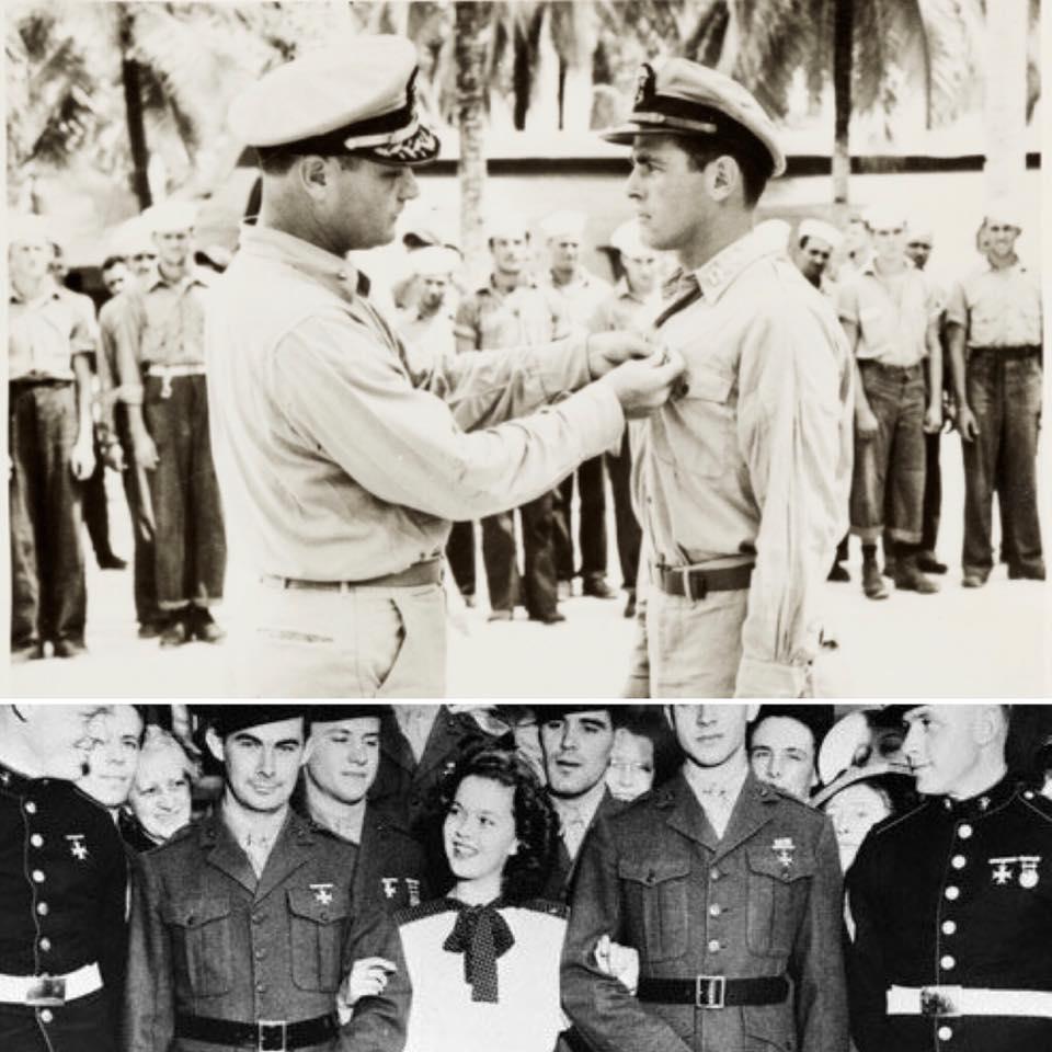 Charles Black Sr. receiving the Silver Star on September 23, 1944.