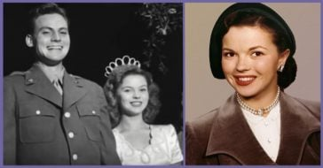 Shirley Temple and her Husband, John Agar.