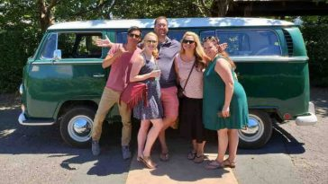 Travel through California wine country in a vintage VW bus