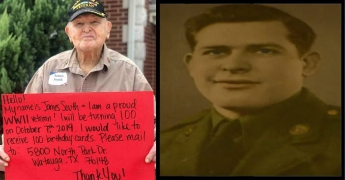 World War II Veteran Requests 100 Cards For 100th Birthday — He Got Much More Than That!