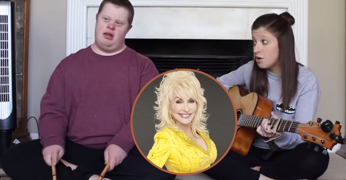 """Young Woman Sings Dolly Parton's """"Jolene"""" With Brother Who Has Down Syndrome"""