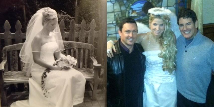 brides repurpose wedding dresses