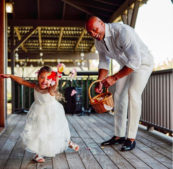 Dwayne Johnson Melts Hearts At Tea Party With His Daughter