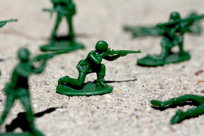 green Army man toy