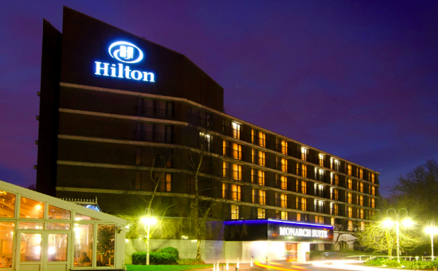 one of the many hilton hotels