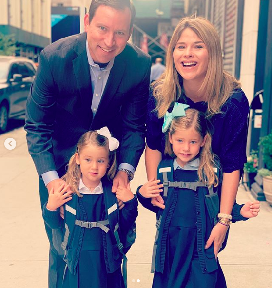 jenna bush hager sends daughters off to school