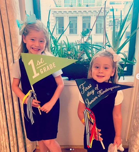Jenna Bush Hager's daughters back to school