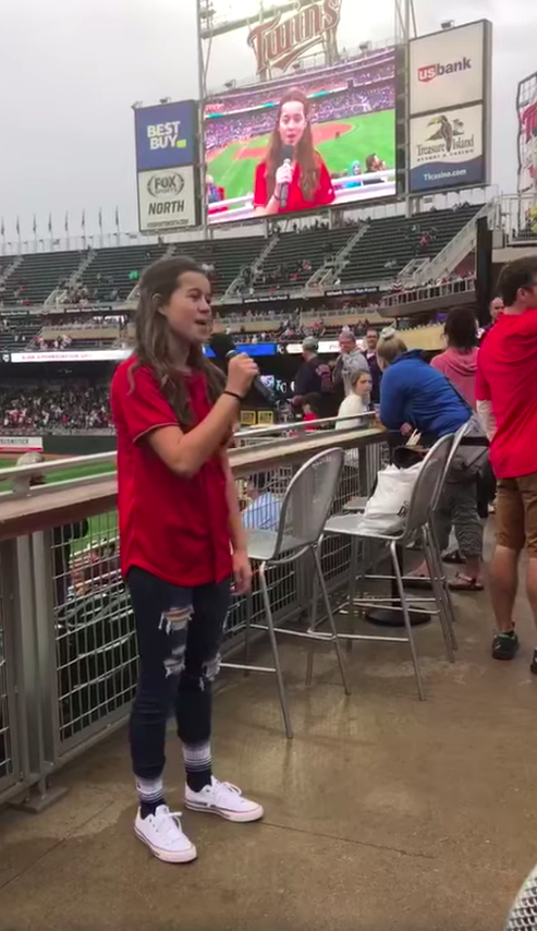 kensey knight sings god bless america