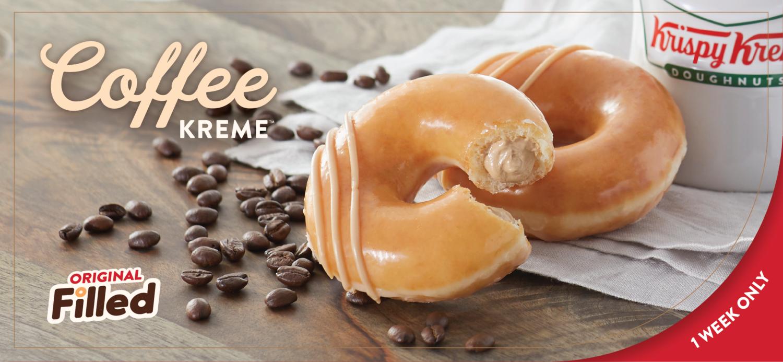 Krispy Kreme Is Selling Donuts With Coffee Cream