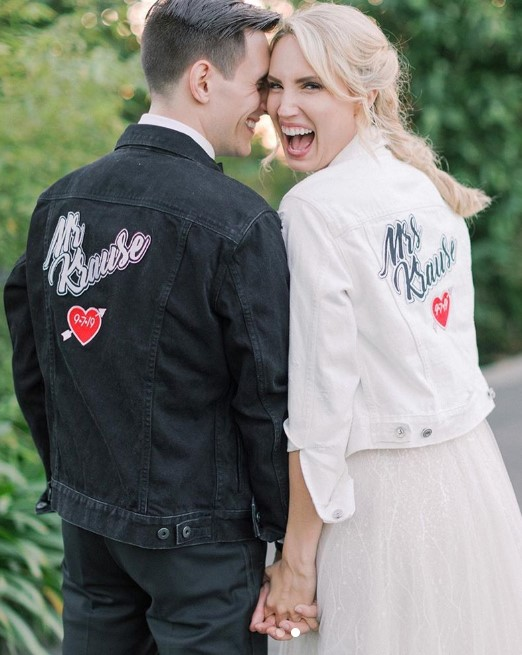 mr and mrs krause jackets molly mccook wedding