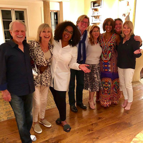 Olivia Newton-John with Oprah and Gayle King surprise get-together