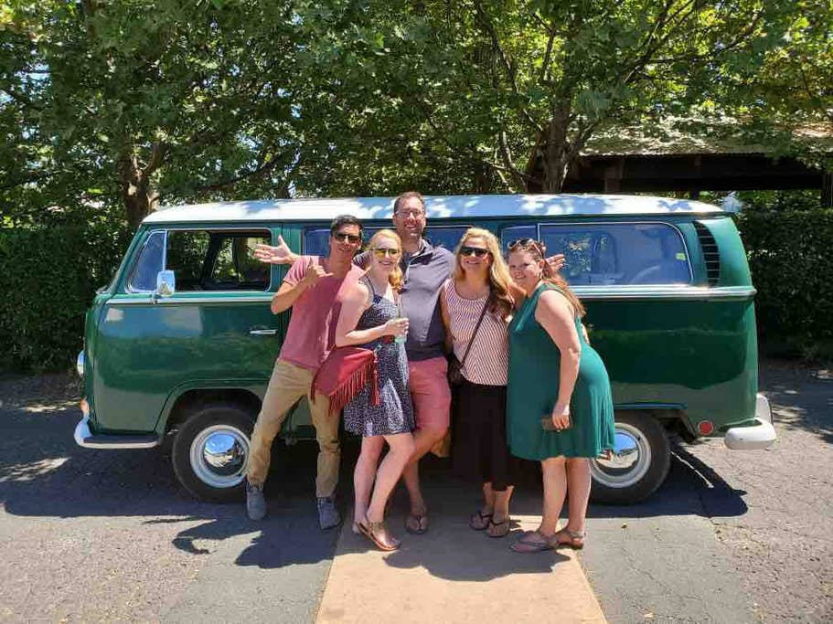 winery tour california vw bus