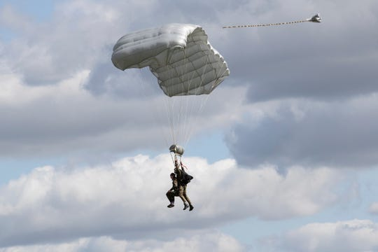 tom rice d-day veteran parachuting in the netherlands