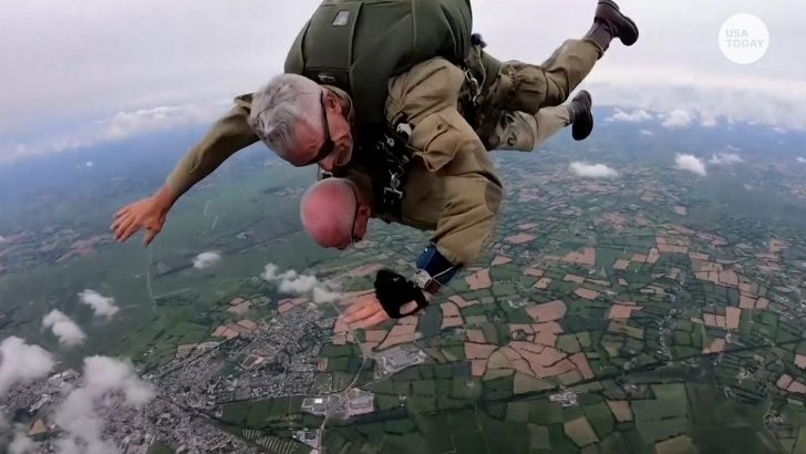 tom rice plans to parachute on d-day until he's 100
