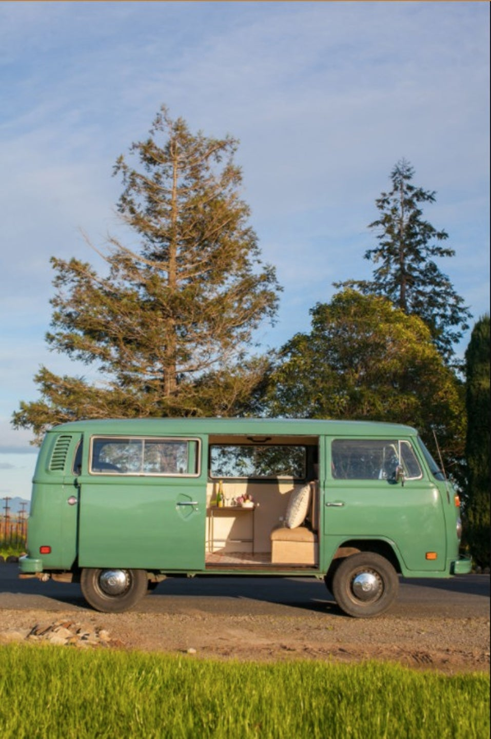 vintage volkswagen bus winery tour california airbnb