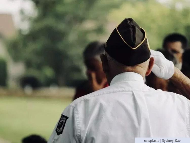 war veteran salute