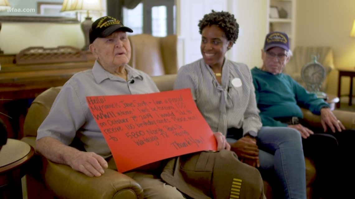 wwii veteran wants 100 cards for his 100th birthday