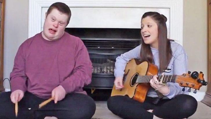 """Young Girl Performs Sweet """"Jolene"""" Duet With Brother Who Has Down Syndrome"""