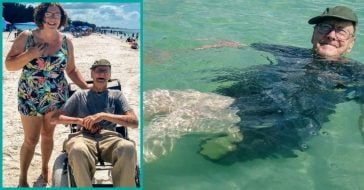 93-Year-Old Florida Man Experiences The Beach For The First Time