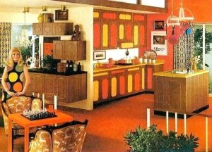 A house in the 60s was as colorful as the clothing people wore