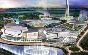 A rendering of the American Dream Mall in FL