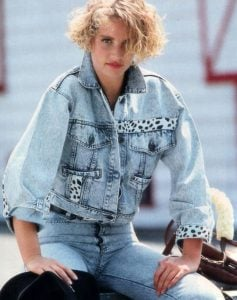 Acid-wash jeans and denim in general became fashion staples