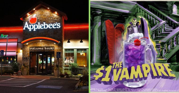 Applebees unveils the new one dollar drink of the month called a vampire